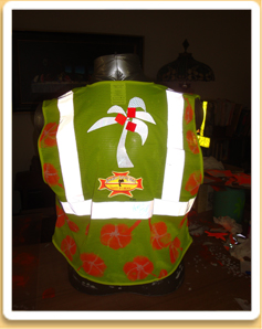Mello Yello Hawaiian Safety Vest front view
